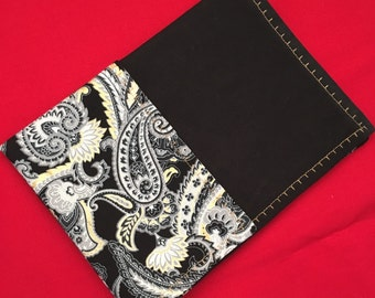 Black and gold paisley