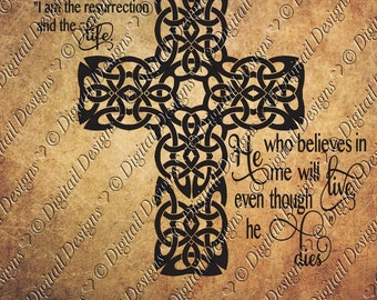 Resurrection Cross SVG PNG DXF Eps Fcm Ai Cut file for Silhouette, Cricut, Scan n Cut Easter svg Cross svg Bible quote