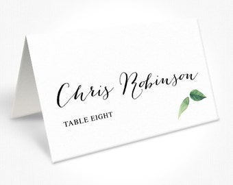 Floral Wedding Place Cards, Modern Script Font, Rustic Garden Wedding, Free Colour Changes, DEPOSIT | Peach Perfect Australia