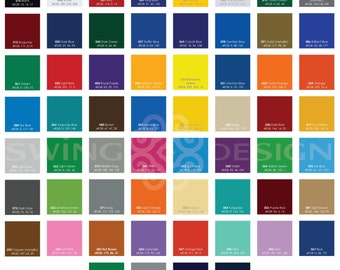 Oracal 651 Glossy Vinyl Sheets 12 Inch x 12 Inch - 61 Colors Available - Sale!