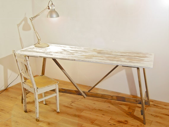 Folding Trestle Table Urban Vintage Kitchen By