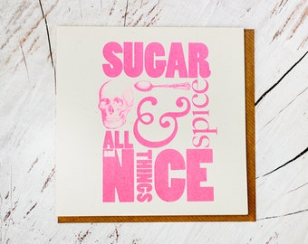 Sugar & Spice • Greeting card • New baby • Sugar Anniversary