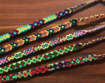 SET-Friendship bracelet-Woven-Wrap-Knotted-Braided-Aztec-Handmade-Best friend-Gift-Jewelry-Native-Guy-Girl-Him-Her-Patern-Ornament-Sun-Love