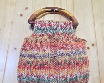 Handmade Felted Wool bag with lining