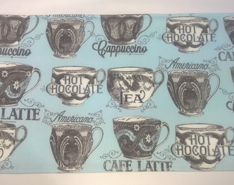 Coffee Placemats, Reversible Placemats, Handmade Placemats, Fabric Placemats, Placemats, Table Decor, Table Linens, Coffee Theme Decor