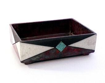 Raku ceramic tidy