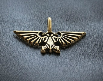 The Imperial Aquila pendant inspired by Warhammer 40k game from bronze