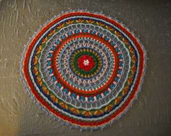 Beautiful NEW Hand Crocheted Doily Mandala HI-280