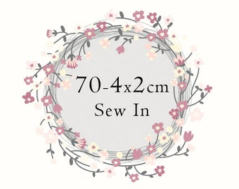 70 - 4x2cm sew in labels