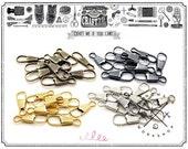 40PCS 1INCH METAL snap spring hooks purse key chain non swivel findings wholesale.