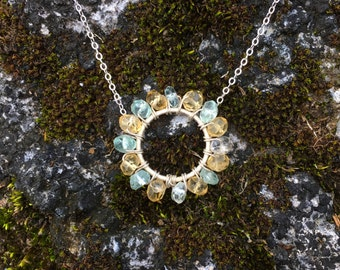 Aquamarine & Topaz Necklace