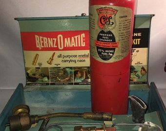 Bernzomatic Torch Kit or Toolbox 1950's, Industrial Box, Workshop, Vintage Tools, Mancave