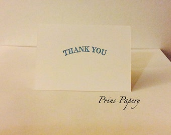 Wedding Thank You Simple Mini Note Cards Set 20