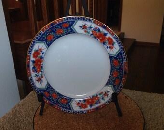 Tiffany Imari design plate Blue and Red