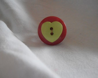 Ring from recycled buttons