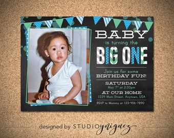 The Big One Birthday Invitation
