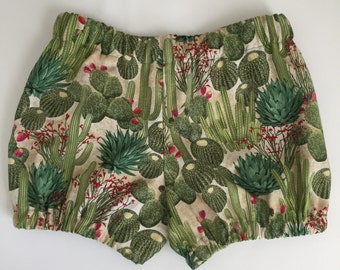 Cactus Bloomers - Matching Hair Bow - Succulents - Saguaro - Toddler - Baby Shower Gift