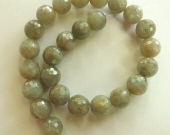 Faceted 10mm Labradorite Round Gemstones - 25 gemstones