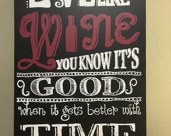 Good love is like wine-wall decor