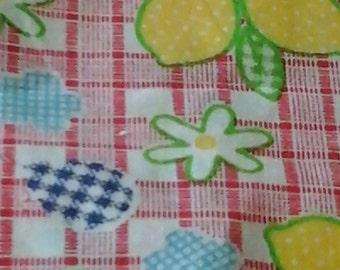 lemons and checks fabric