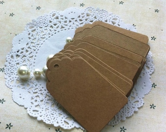 50 Kraft Tags + Brown Twine 4*7cm /Gift Party Favour Wedding / Bomboniere Card/ Paper Packaging