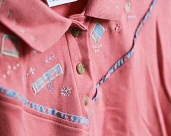 Pink Jantzen women top polo size M
