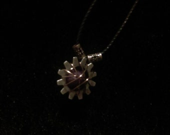 Wrapped Stone & Gear Necklace