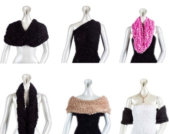 Women's Nylon Multiple Wear Magic Scarf .Magic Scarf .Multiple purpose accessory .Winter Scarf