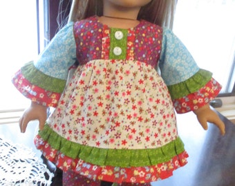 """Bright & Ruffly Doll Outfit to fit your 18"""" American Girl Doll!"""