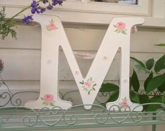 Hanging/Freestanding Letter, Personalised Wooden Letter, Wedding Letters, Floral decoupage letter, Children's Bedroom Decor, Nursery Decor