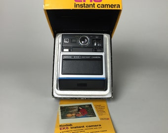 Retro Kodak Brand EK6 Instant Camera with Original Box and Instructions