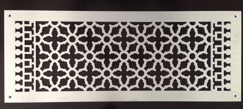 decorative vent covers hvac register brushed aluminum