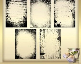 5 photo masks - photo masks set 1 - photo masks - image editing - Photoshop masks - instant DOWNLOAD - grungy frame