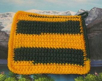 Hand crochet double thick hot pad CHP 006