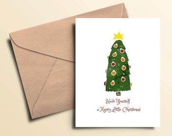 Merry Little Christmas Cards - Boxed Set of 10 With Envelopes