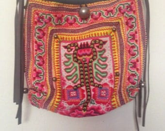 Hand stitched Boho Handbag with Bells/Fringe