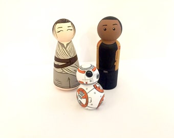Wood Peg Dolls Star Wars Set of 3