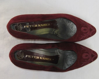 Vintage SHOES women High heels Peter Kaiser made in West Germany leather shoes 5.5