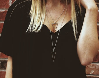 triangle layer chain necklace