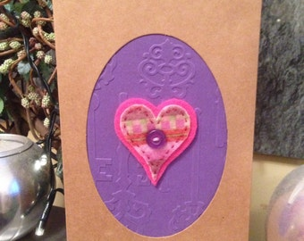 Fun felt heart card.