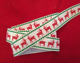 Reindeer Grosgrain Ribbon 1""