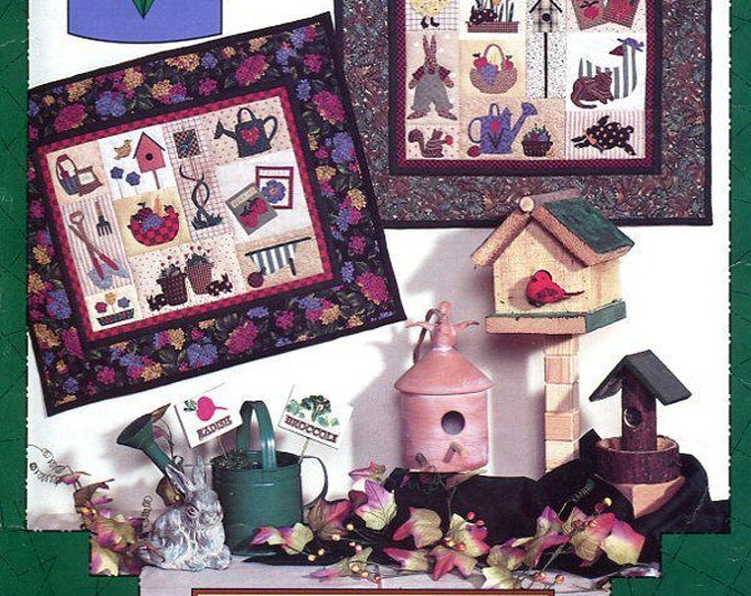 FREE US SHIP Mumm's The Word Garden of Delights Quilt Garden Out of Print Craft Sewing Pattern Folk Art