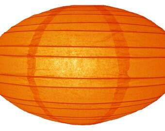 "16"" Orange Saturn Paper Lantern - 16SAT-OR"