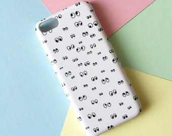 Googly eyes phone case / doodle phone case / eye iPhone 7 case / iPhone 7 Plus / iPhone 6s / iPhone 5/5S, Se / Samsung Galaxy S6