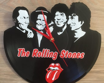 "The Rolling Stones vinyl record wall art - upcycled from an original 12"" vinyl record"