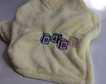 Baby Block Blanket