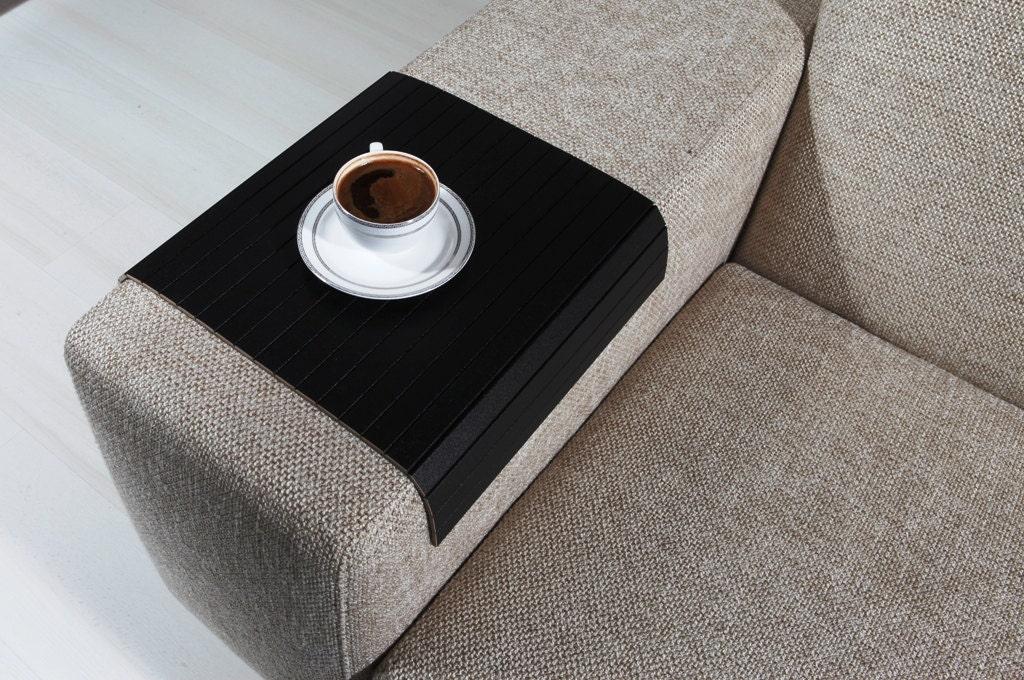 Sofa Tray Table ( Super Black ), Sofa Arm Tray, Armrest Tray, Sofa - Coffee Table Tray Etsy