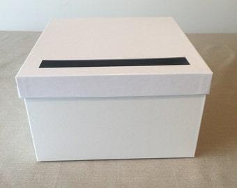 DIY White Deluxe Wedding Card Box 10 x 10  x 6