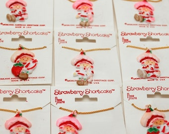 Strawberry Shortcake Necklace - Vintage Deadstock