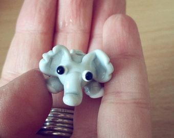 Elephant Bead - Glass Elephant - Lampwork Elephant - Lampwork Beads - Handmade Elephant - Made in the UK - Handmade Beads - Lampwork Glass